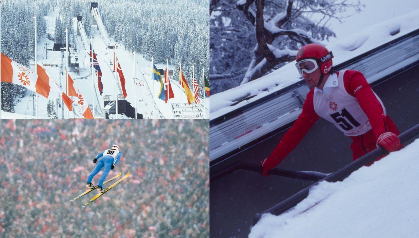 Igrzyska olimpijskie w 1984 roku w Sarajewie. Primoz Ulaga (z prawej) miał dać Jugosławii medal. Rozczarował na całej linii (Fot. Getty)