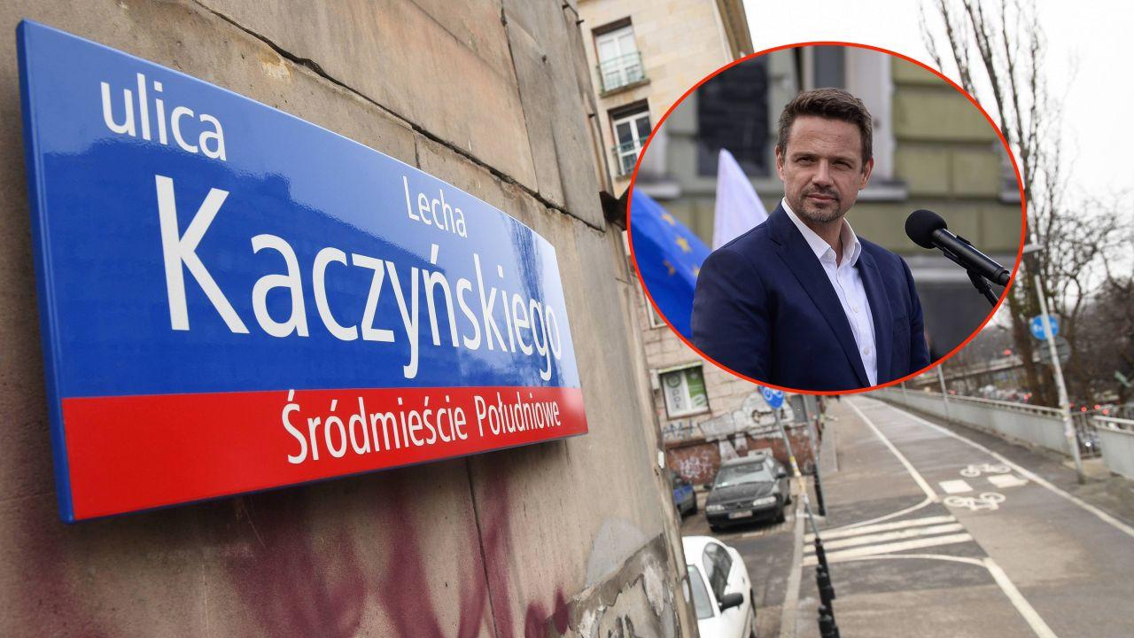 Czy Rafał Trzaskowski dotrzyma obietnicy ws. ulicy Lecha Kaczyńskiego? (fot. PAP/Jacek Turczyk,  Getty Images/Omar Marques)