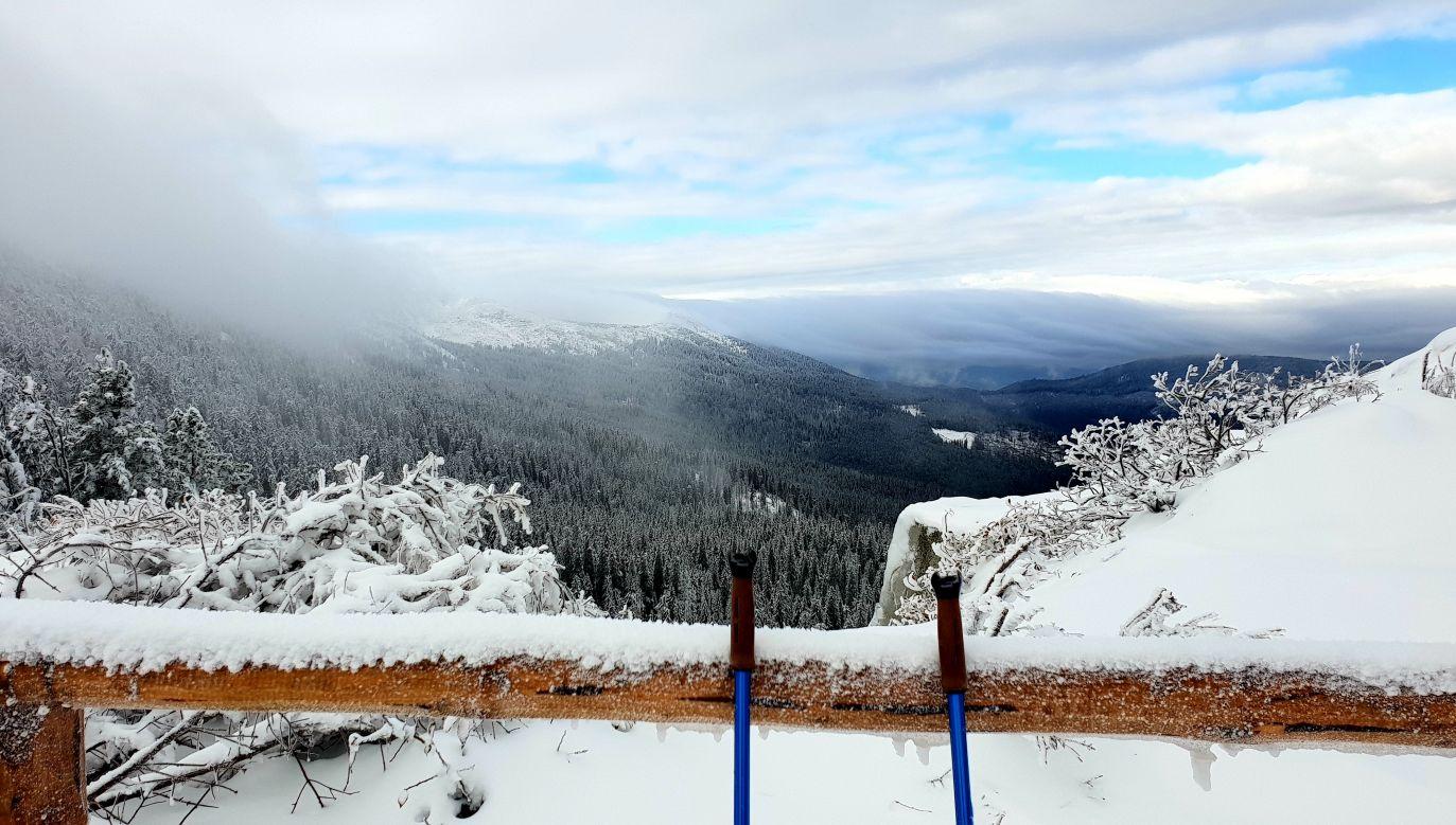 Śnieg spadł także na Pilsku, Rysiance i na Klimczoku (fot. Twoje Info/Krzysiek)