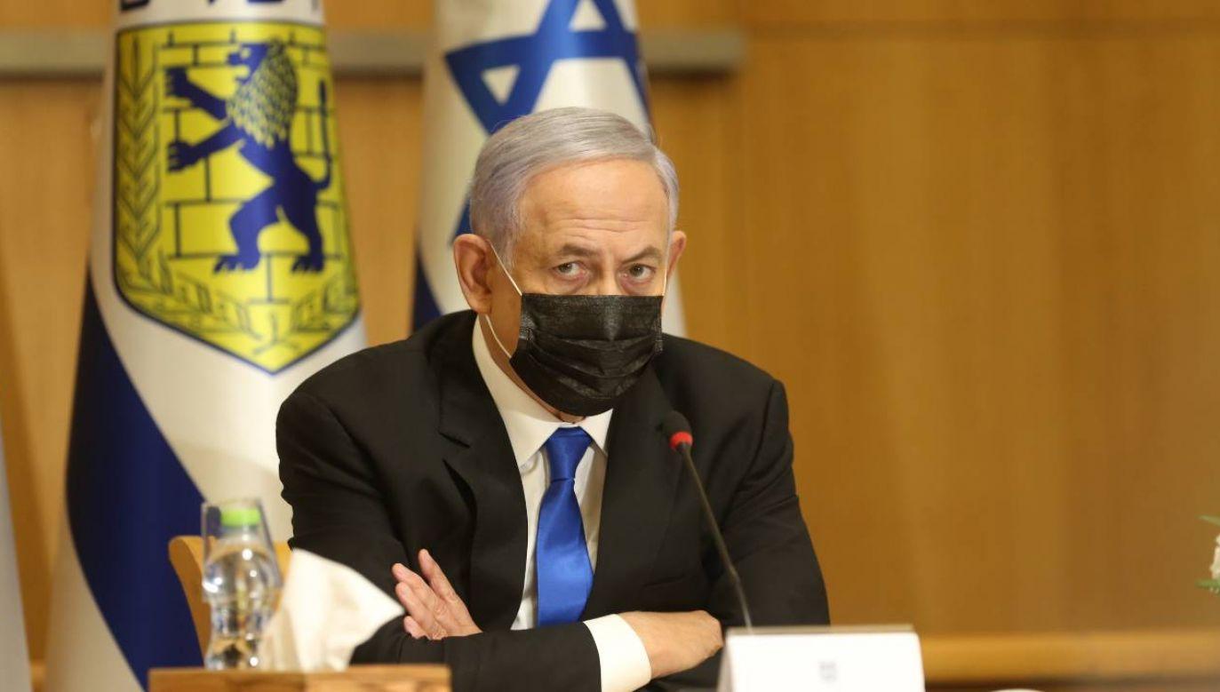 Premier Izraela Benjamin Netanjahu (fot. PAP/EPA/AMIT SHABI/ POOL)