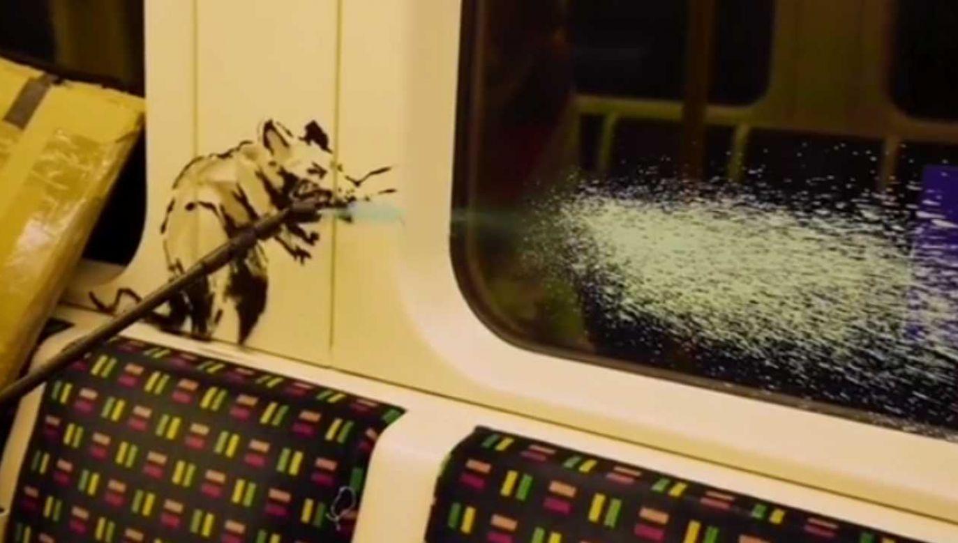 """""""Jeśli nie zakładasz maseczki, nie zrozumiesz"""" – twierdzi artysta (fot. IG/Banksy)"""