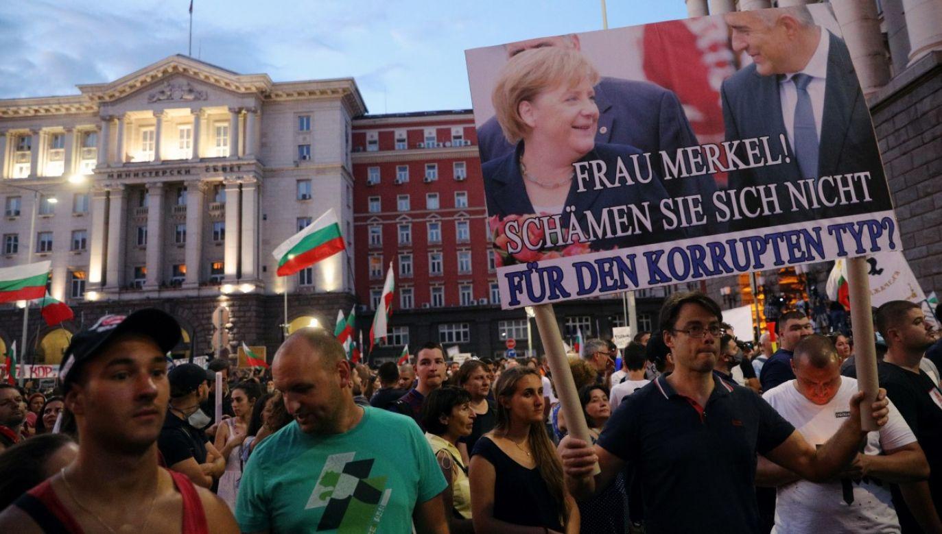 Antyrządowe protesty w stolicy Bułgarii Sofii (fot. REUTERS/Stoyan Nenov)