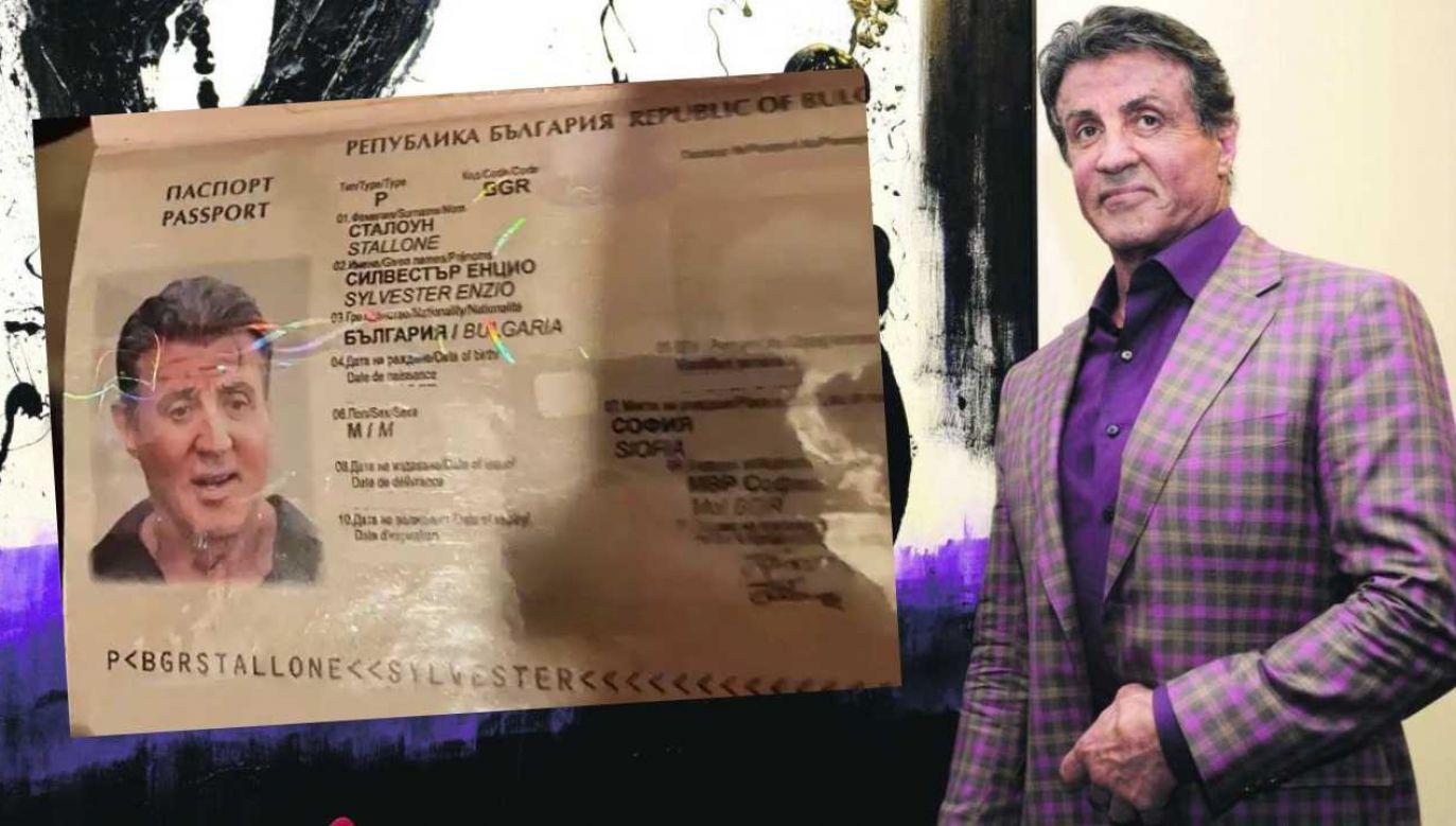 Paszport Sylverstra Stallone'a został sfałszowany (fot. mat.pras./MSW Bułgarii)