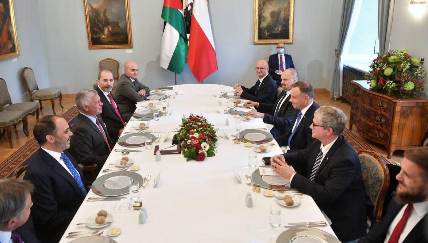 Rozmowy plenarne delegacji w Pałacu Prezydenckim (fot. PAP/Radek Pietruszka)