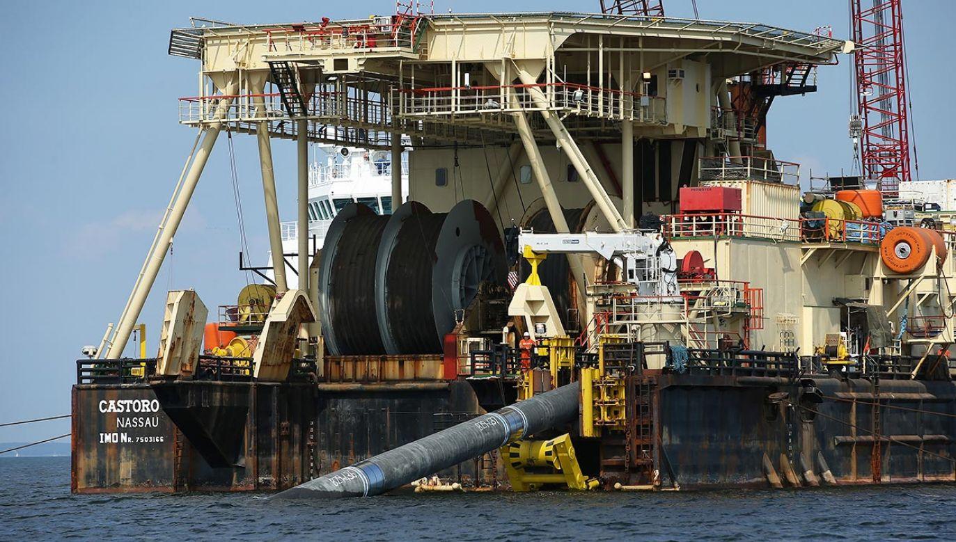 Budowa Nord Stream 2 (fot.  Sean Gallup/Getty Images)