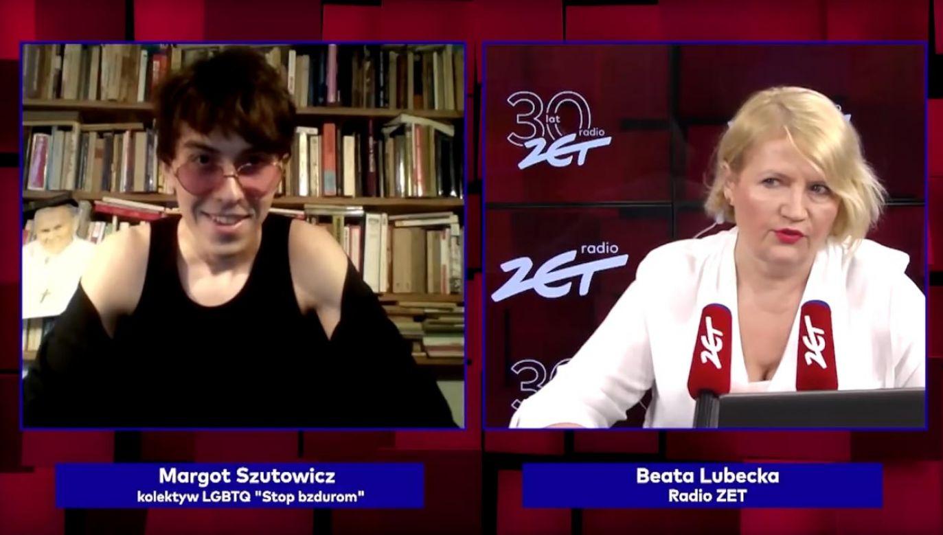 Beata Lubecka przeprowadziła wywiad z Michałem Sz. (fot. YouTube/Radio ZET)