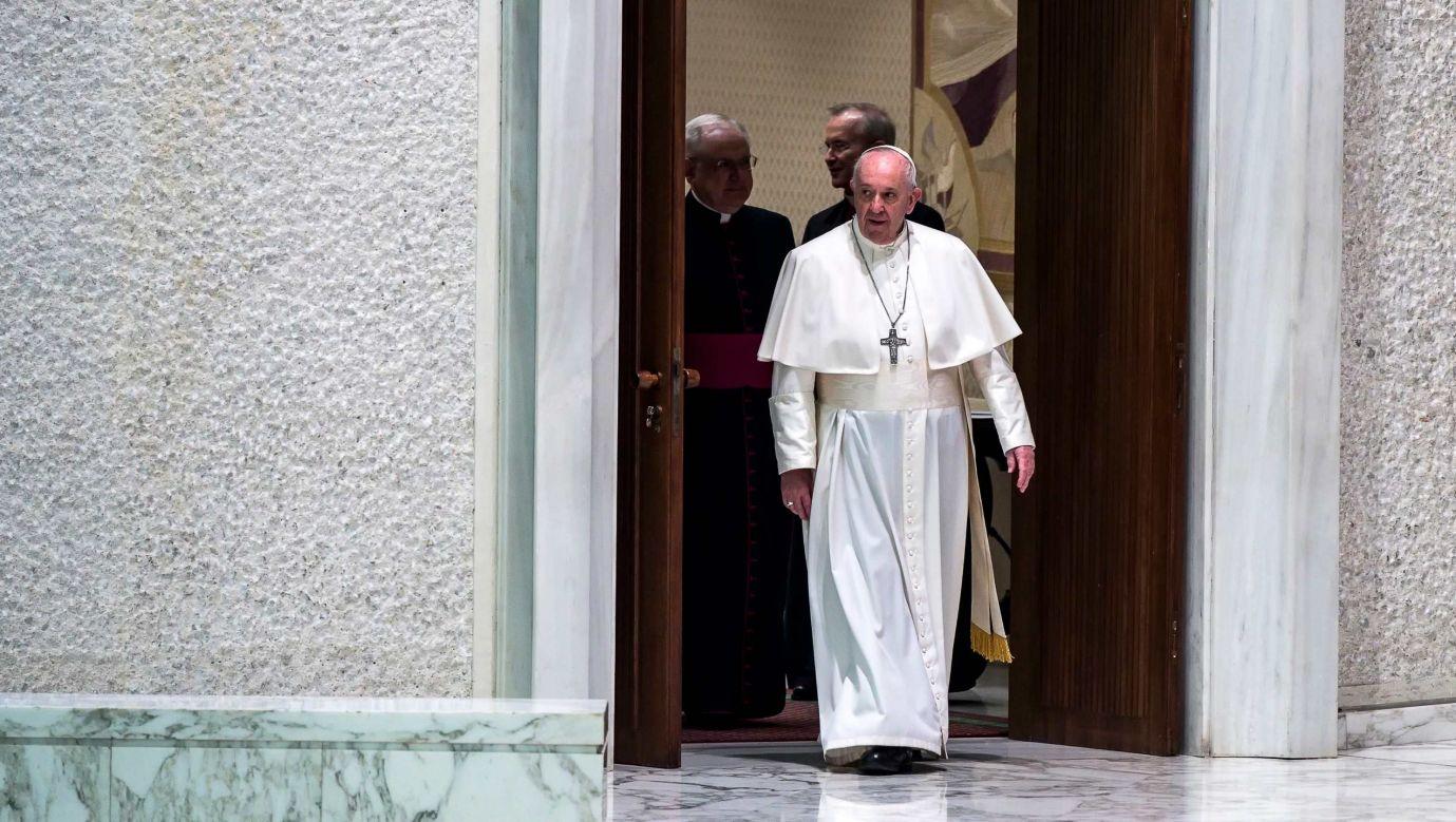 Papież Franciszek na audiencji ogólnej w auli Pawła VI w Watykanie. Fot. ANGELO CARCONI/EPA/PAP