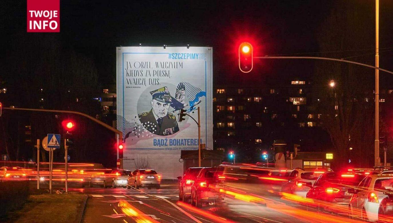 Billboardy z wizerunkiem byłego żołnierza można zobaczyć w całej Polsce (fot. Twoje Info)