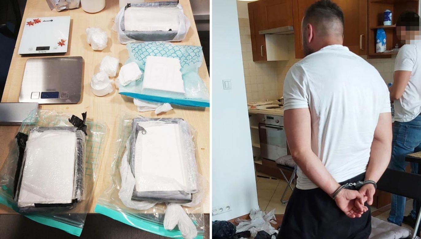 Funkcjonariusze zabezpieczyli około 4,5 kg kokainy (fot. Policja)