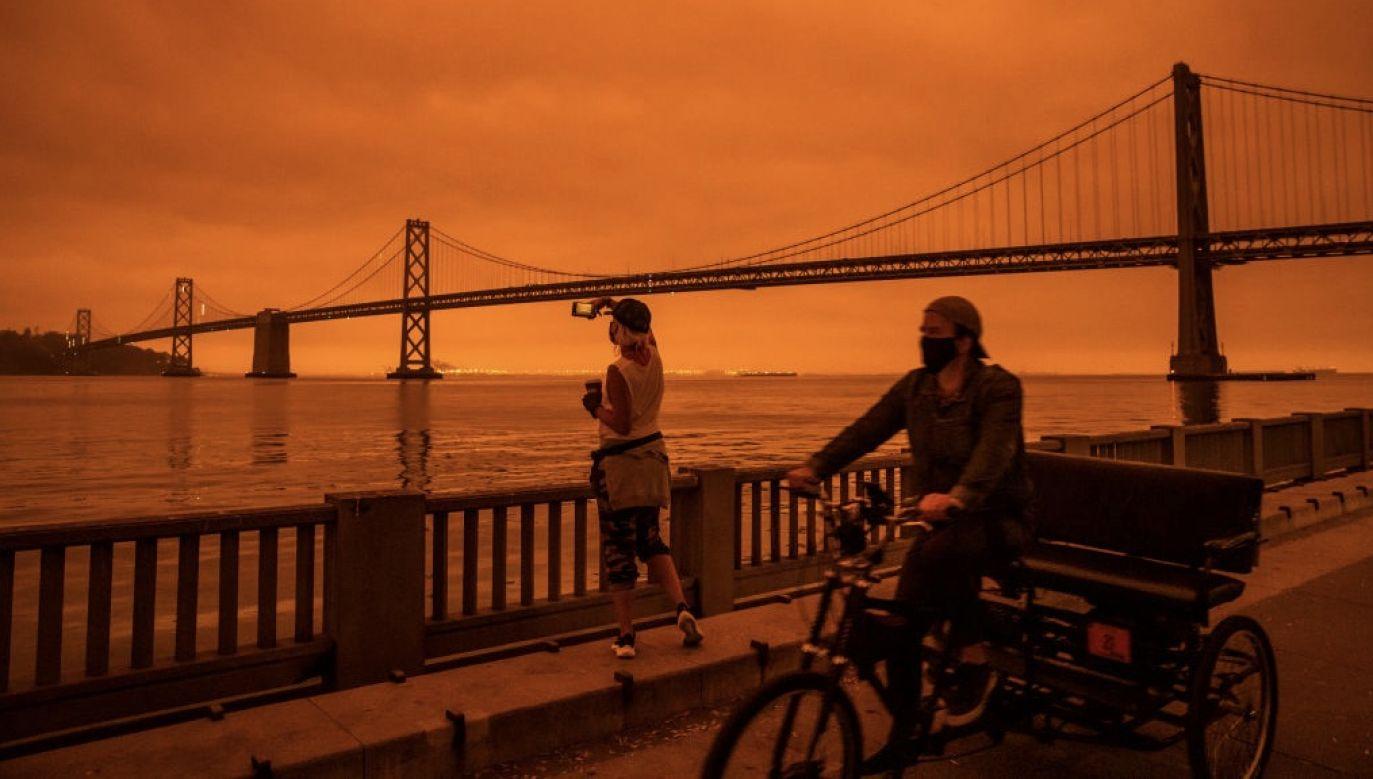 W Kalifornii i Oregonie szaleją pożary lasów. (fot. Philip Pacheco/Getty Images)