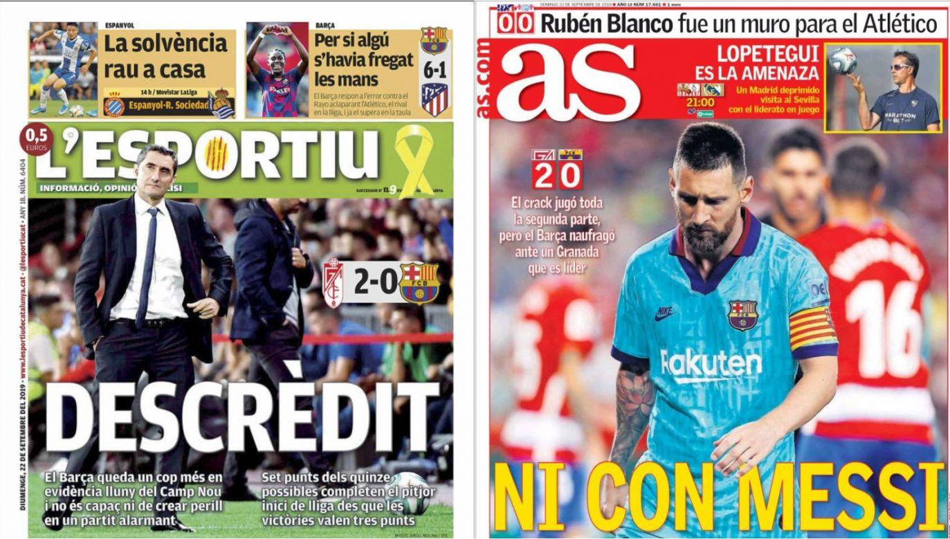 Hiszpańskie media nie oszczędzają mistrzów kraju
