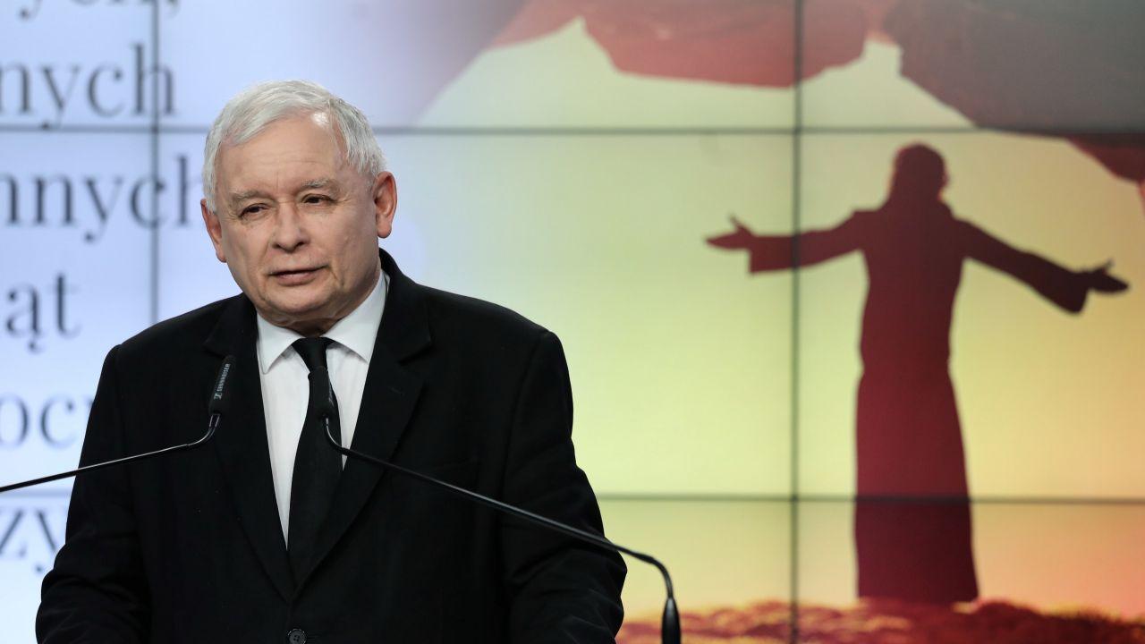 Prezes PiS złożył świąteczne życzenia (fot. PAP/Tomasz Gzell)