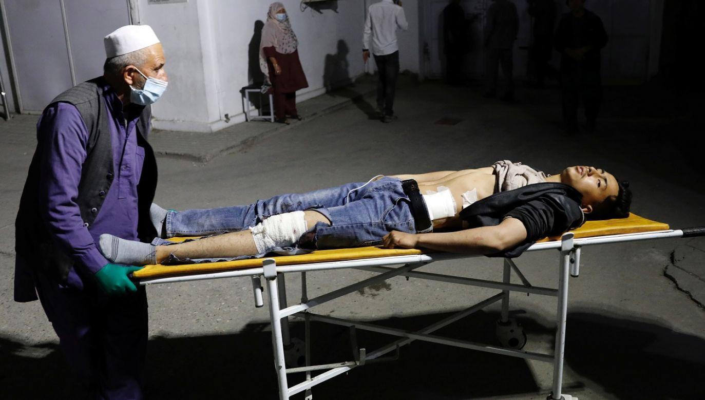 57 osób zostało rannych (fot. Reuters/Mohammad Ismail)
