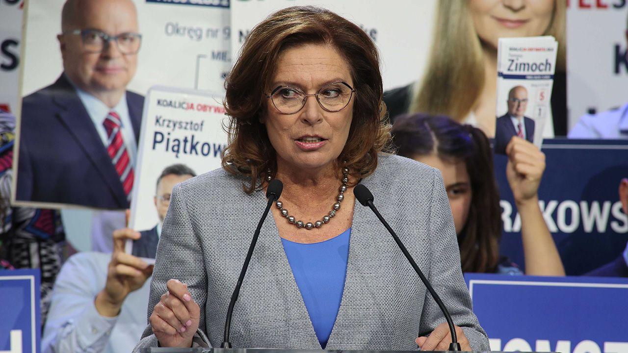 Małgorzata Kidawa-Błońska podtrzymuje swoją wcześniejszą deklarację dotyczącą startu w przyszłorocznych wyborach prezydenckich (fot. arch.PAP/Roman Zawistowski)