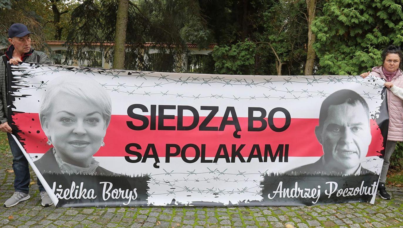 Uczestnicy manifestacji zebrali się na skwerze przy pomniku ks. Jerzego Popiełuszki (fot. PAP/Artur Reszko)
