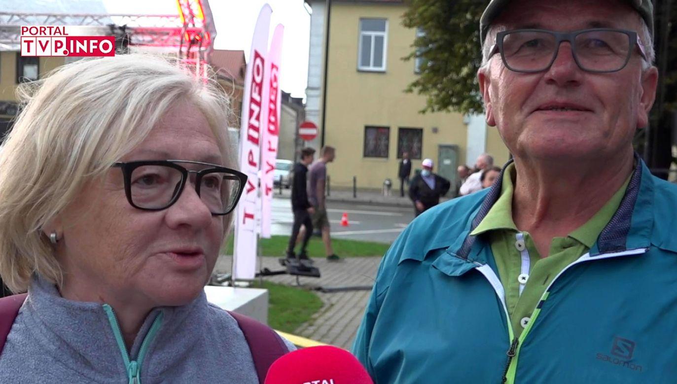 Mieszkańcy Końskich i okolic w rozmowie z portalem tvp.info (fot. TVP Info)