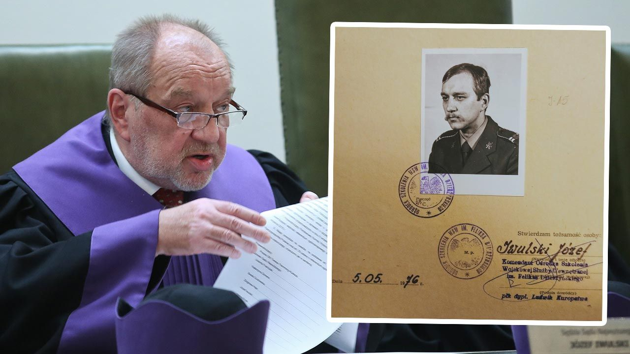 Sędzia Józef Iwulski w stanie wojennym zasiadał w składach skazujących działaczy opozycji demokratycznej. (fot. PAP/Rafał Guz; Twitter/Sławomir Cenckiewicz)