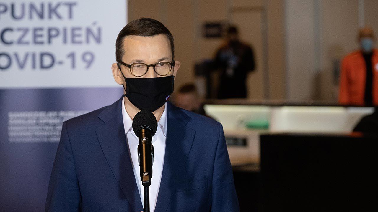 Premier Mateusz Morawiecki (fot. PAP/Hanna Bardo)