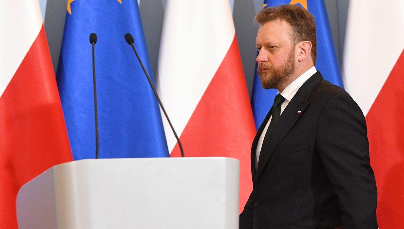 Minister zdrowia Łukasz Szumowski  (fot. PAP/Radek Pietruszka)