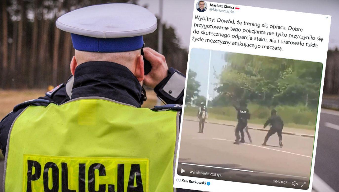 Materiał zdobył dużą popularność w sieci (fot. policja.pl/tt/@MariuszCiarka)