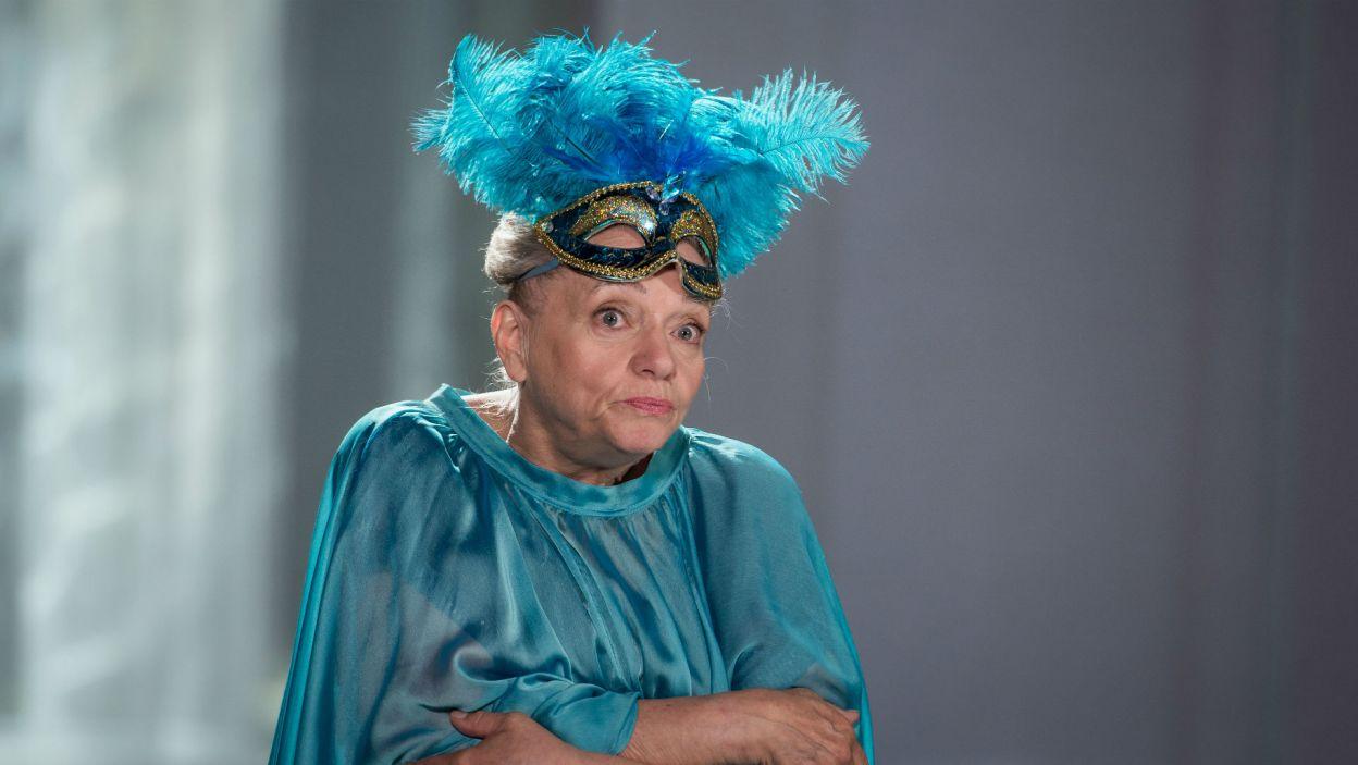 Znakomita aktorka zagrała w tym przedstawieniu także jedną z ról (fot. Jan Bogacz/TVP)