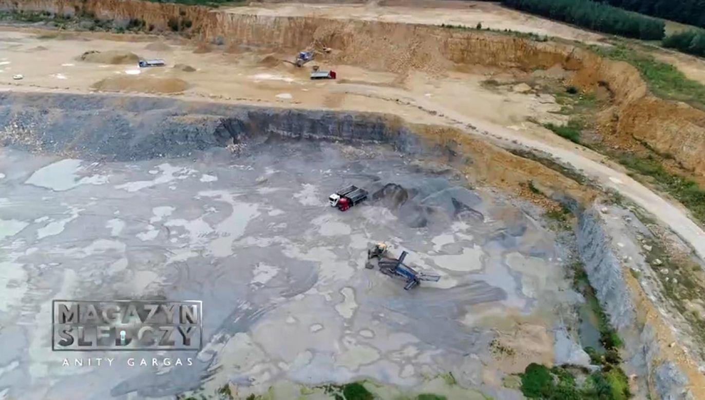 Czy ekspertyzy zlecone przez niemiecki koncern pomniejszają skalę wpływu kamieniołomu na środowisko naturalne? (fot. TVP)