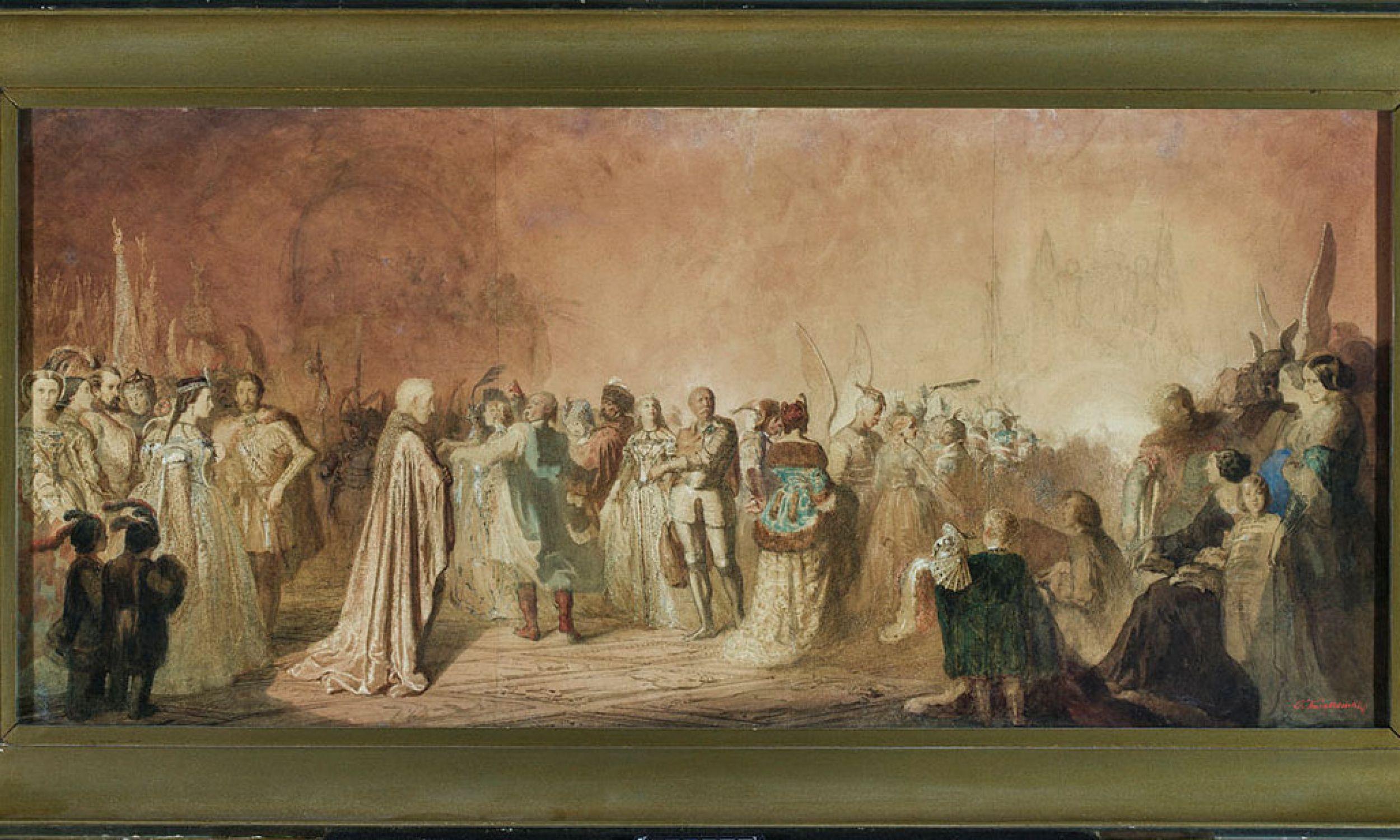Polonez Chopina (Bal w Hôtel Lambert w Paryżu), 1859, aut. T. Kwiatkowski,  Fot. Muzeum Narodowe w Poznaniu