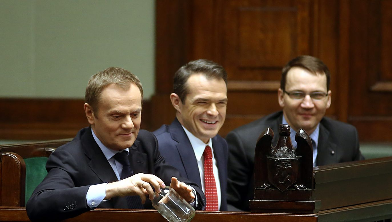 Donald Tusk odniósł się do sprawy Sławomira Nowaka (fot. PAP/Tomasz Gzell)