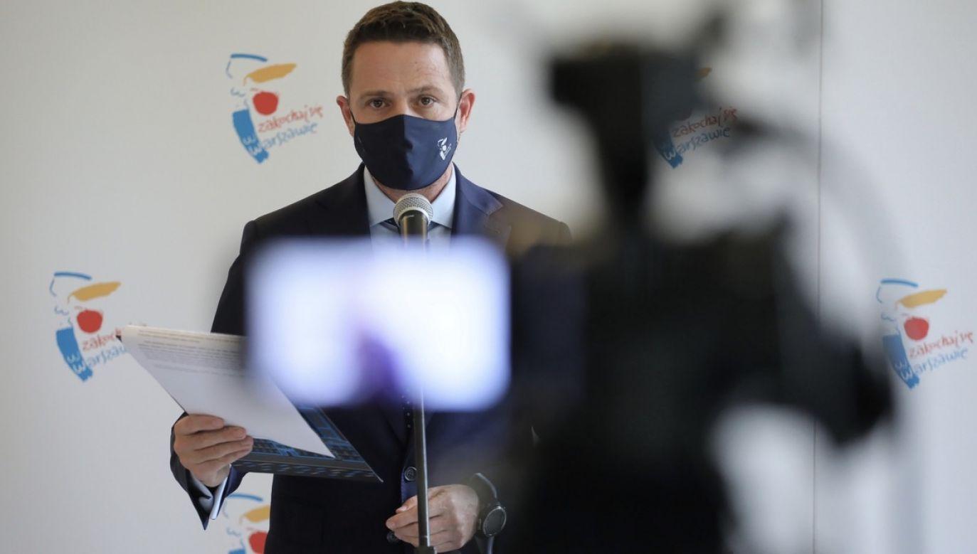 Prezydent Warszawy odniósł się także do przeprowadzania aborcji eugenicznej w stołecznych szpitalach (fot. PAP/Paweł Supernak)