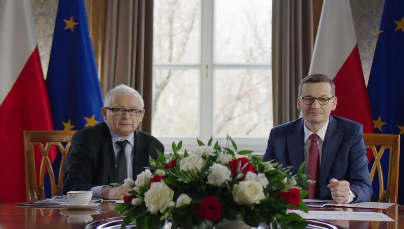Jarosław Kaczyński i Mateusz Morawiecki (fot. Prawo i Sprawiedliwość)