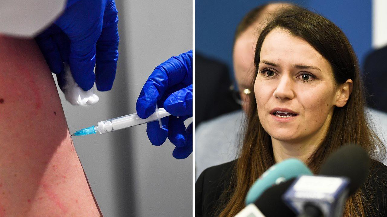 Posłanka Agnieszka Pomaska (PO) o szczepieniach przeciw COVID-19 w Niemczech i w Polsce (fot. PAP/EPA/GEORGI LICOVSKI; Marcin Gadomski)