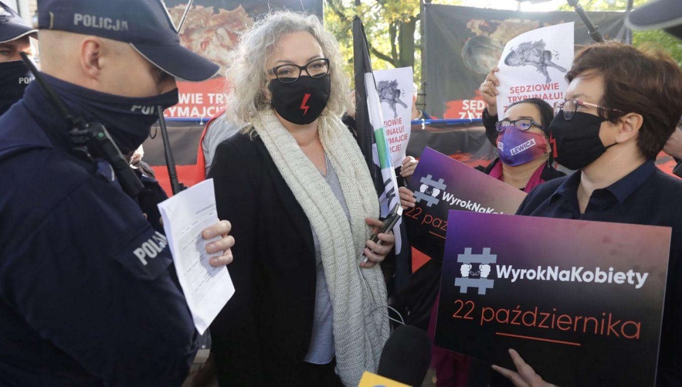 Liderka Ogólnopolskiego Strajku Kobiet Marta Lempart (fot. PAP/Tomasz Gzell)