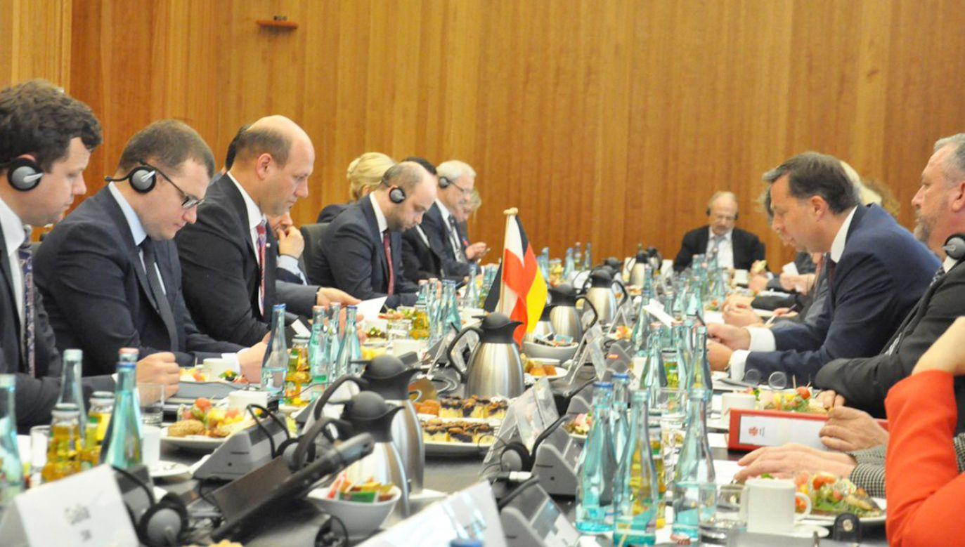 Berlińskie spotkanie z udziałem polskiej delegacji (fot. tt/@SzSz_velSek)