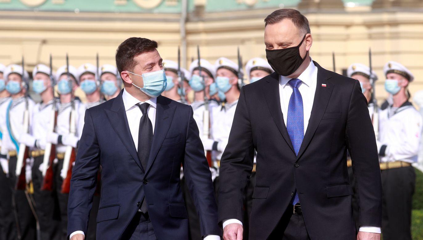 Wołodymyr Zełenski rozmawiał z prezydentem Polski (fot. Reuters)
