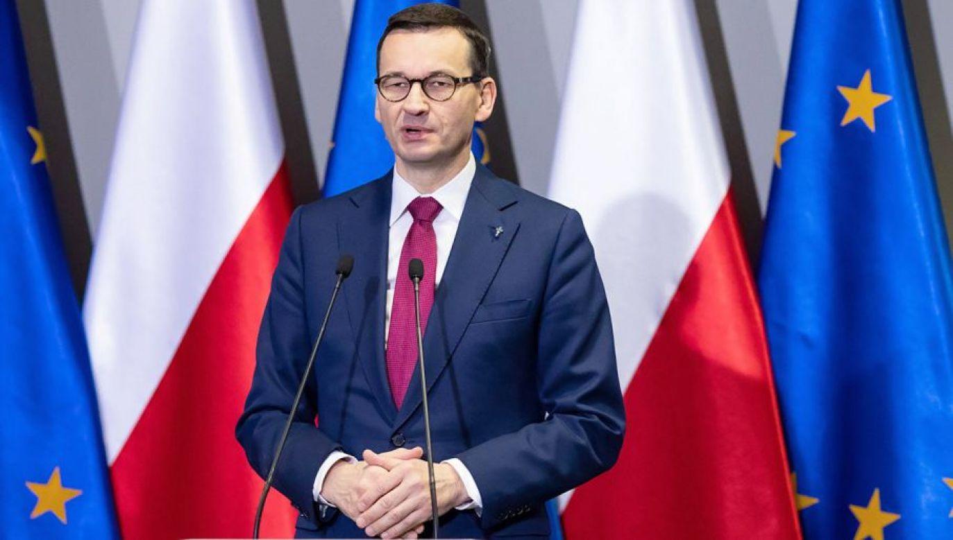 Premier Mateusz Morawiecki (fot. PAP/Marek Zakrzewski)