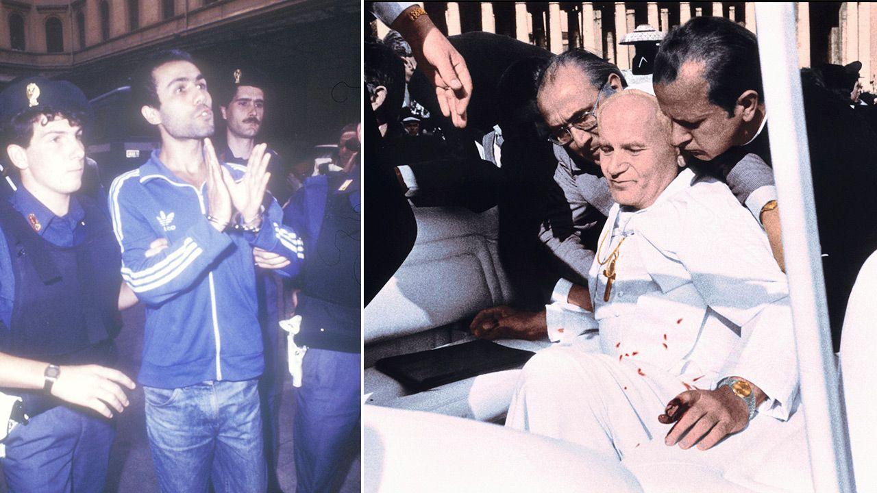 Mehmet Ali Agca zatrzymany po zamachu na Jana Pawła II (fot. PAP/Photoshot; PI/Gamma-Rapho via Getty Images)