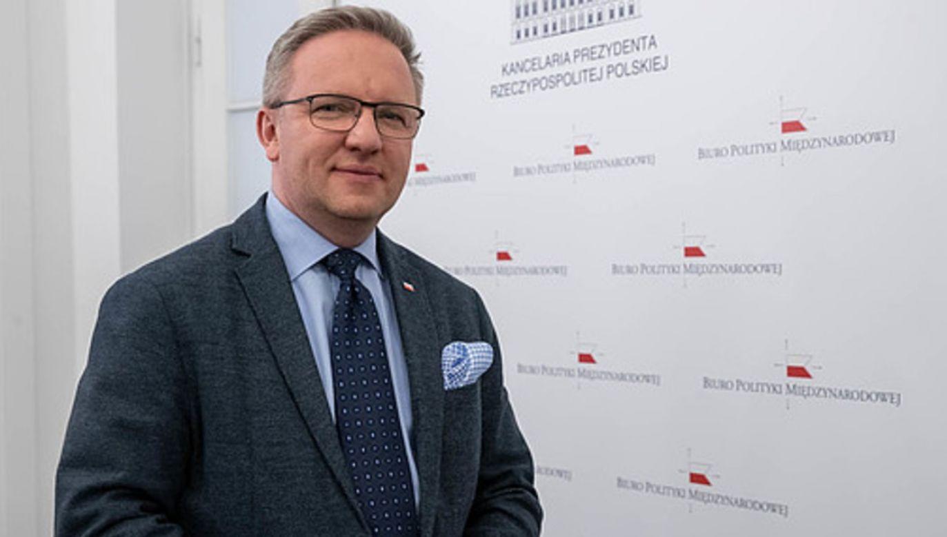 Szef Biura Polityki Międzynarodowej Krzysztof Szczerski (fot. KPRM/Marek Borawski)