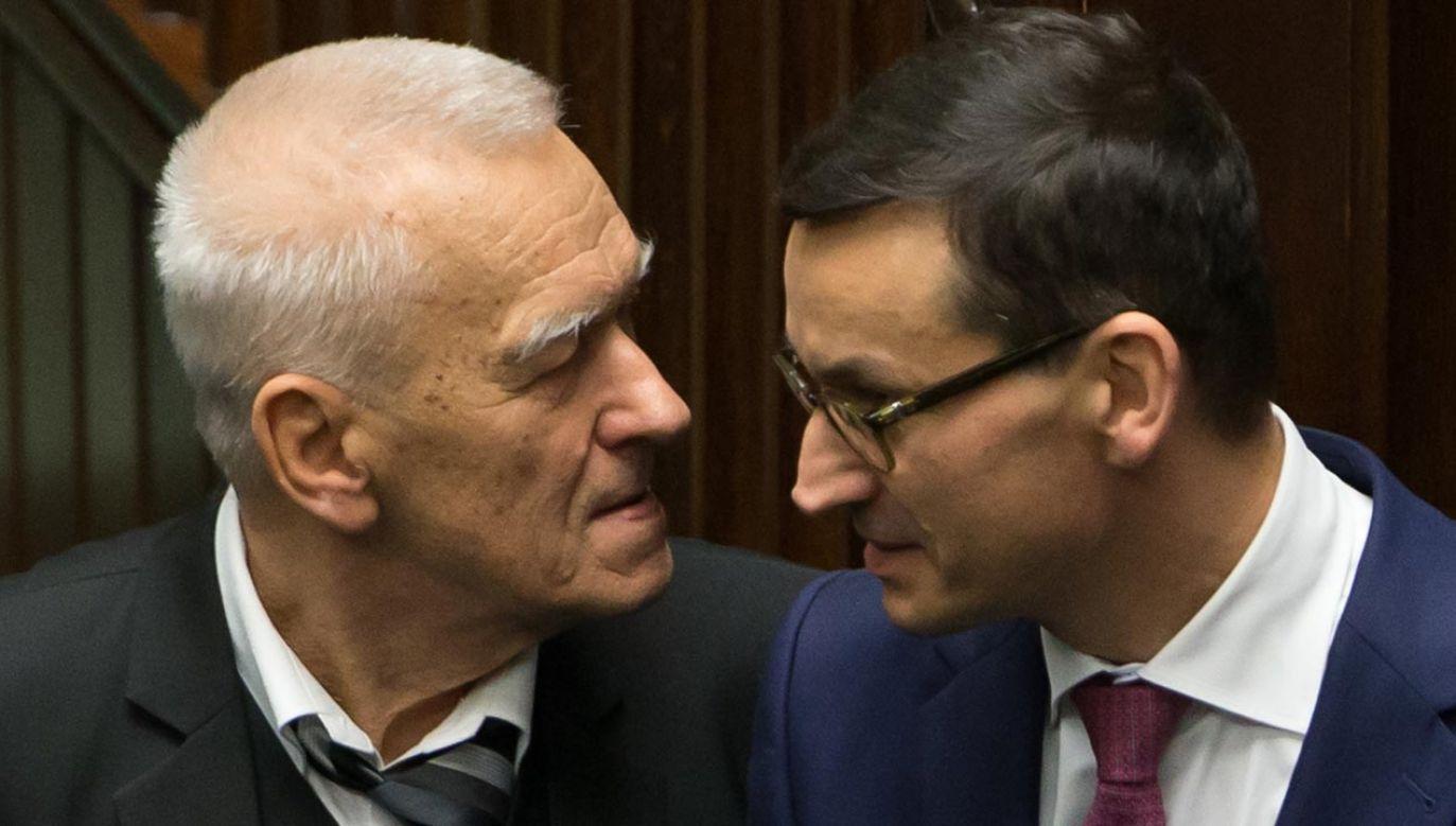 Mateusz Morawiecki wielokrotnie podkreślał, że ojciec był dla niego autorytetem (fot. Forum/Krystian Maj)