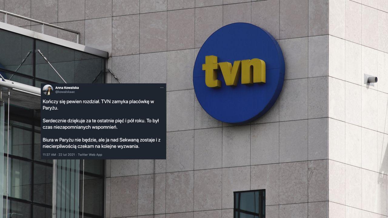 TVN podejmuje kolejne trudne decyzje (fot. Jaap Arriens/NurPhoto via Getty Images, Twitter.com/AnnaKowalska)