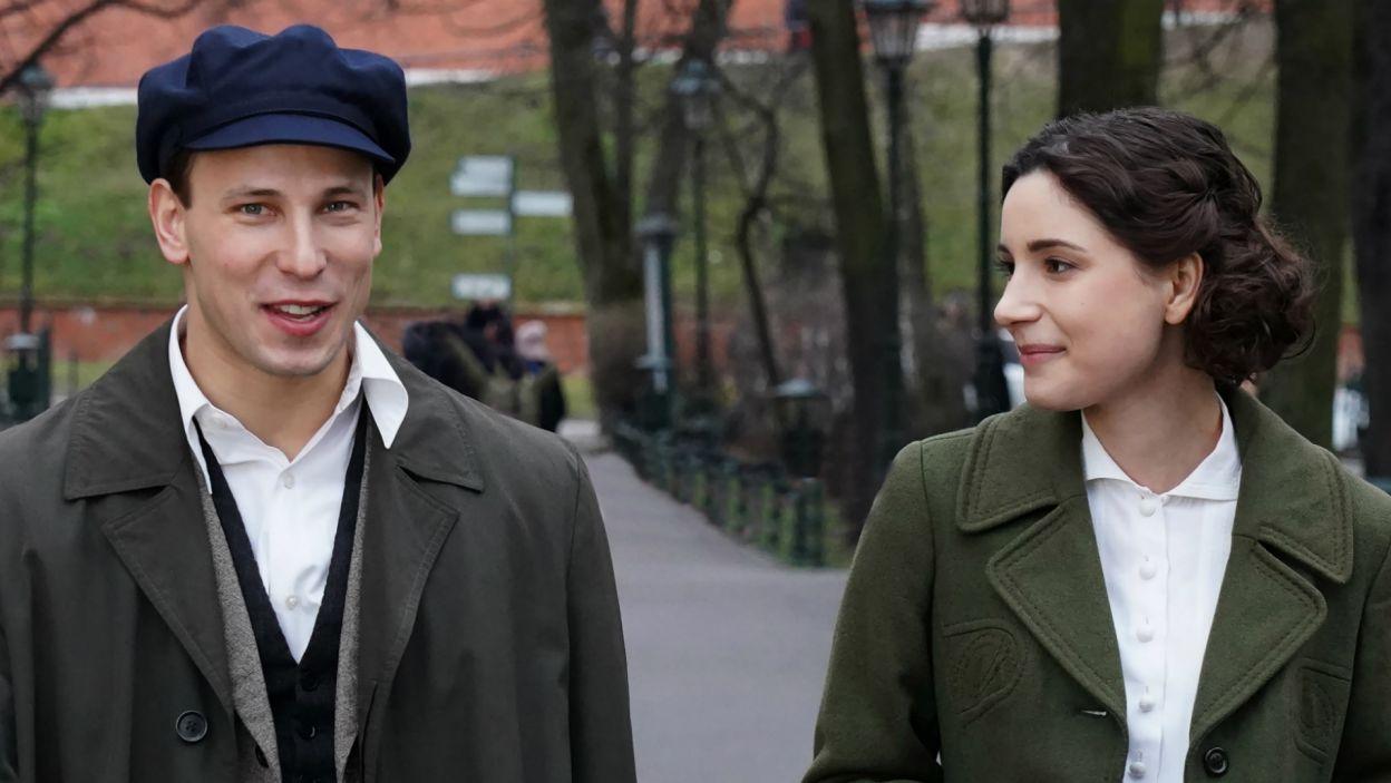 W rolę Haliny Królikiewiczówny, wieloletniej przyjaciółki Wojtyły z lat szkolnych i studenckich, wcieliła się Adrianna Chlebicka (fot. A. Ciołek/TVP)