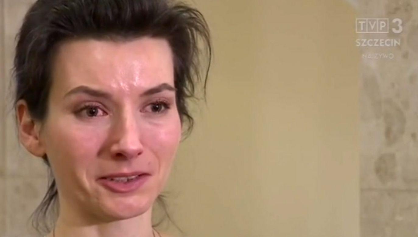 Malina Borsch po ogłoszeniu wyroku (fot. TVP3 Szczecin)