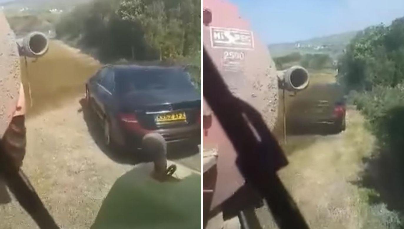 Właściciel mercedesa długo tego nie zapomni tego incydentu (fot. Facebook/Ozmo Motorsport Remap Tuning Specialists)