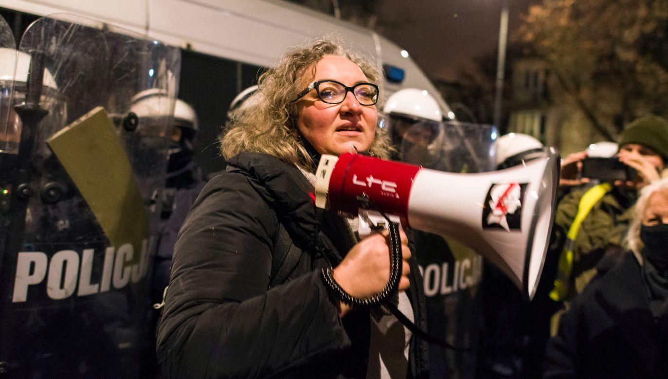 Marta Lempart, liderka Ogólnopolskiego Strajku Kobiet (fot. Attila Husejnow/SOPA Images/LightRocket via Getty Images))