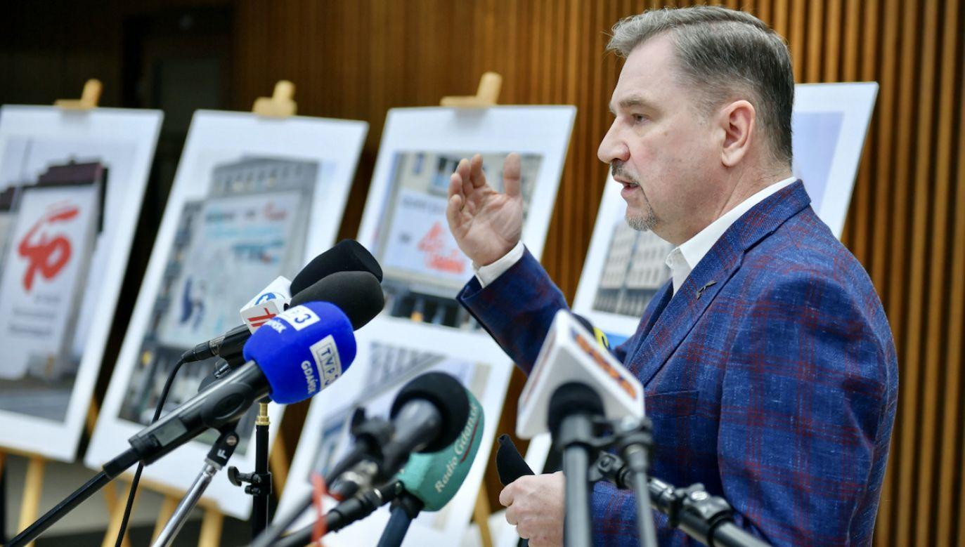 """Przewodniczący NSZZ """"Solidarność"""" Piotr Duda (fot. PAP/Adam Warżawa)"""
