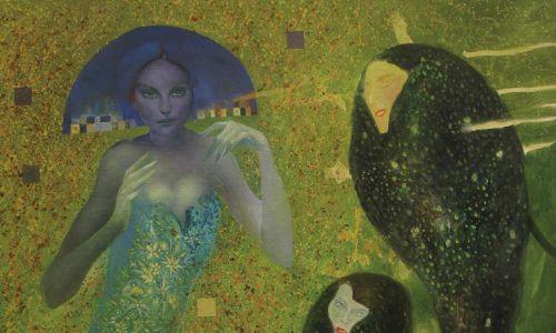 """Željko Durovic: """"Hołd dla Gustava Klimta"""", olej na płótnie, 2019 r. Fot. materiały prasowe – Galeria Miejska we Wrocławiu"""