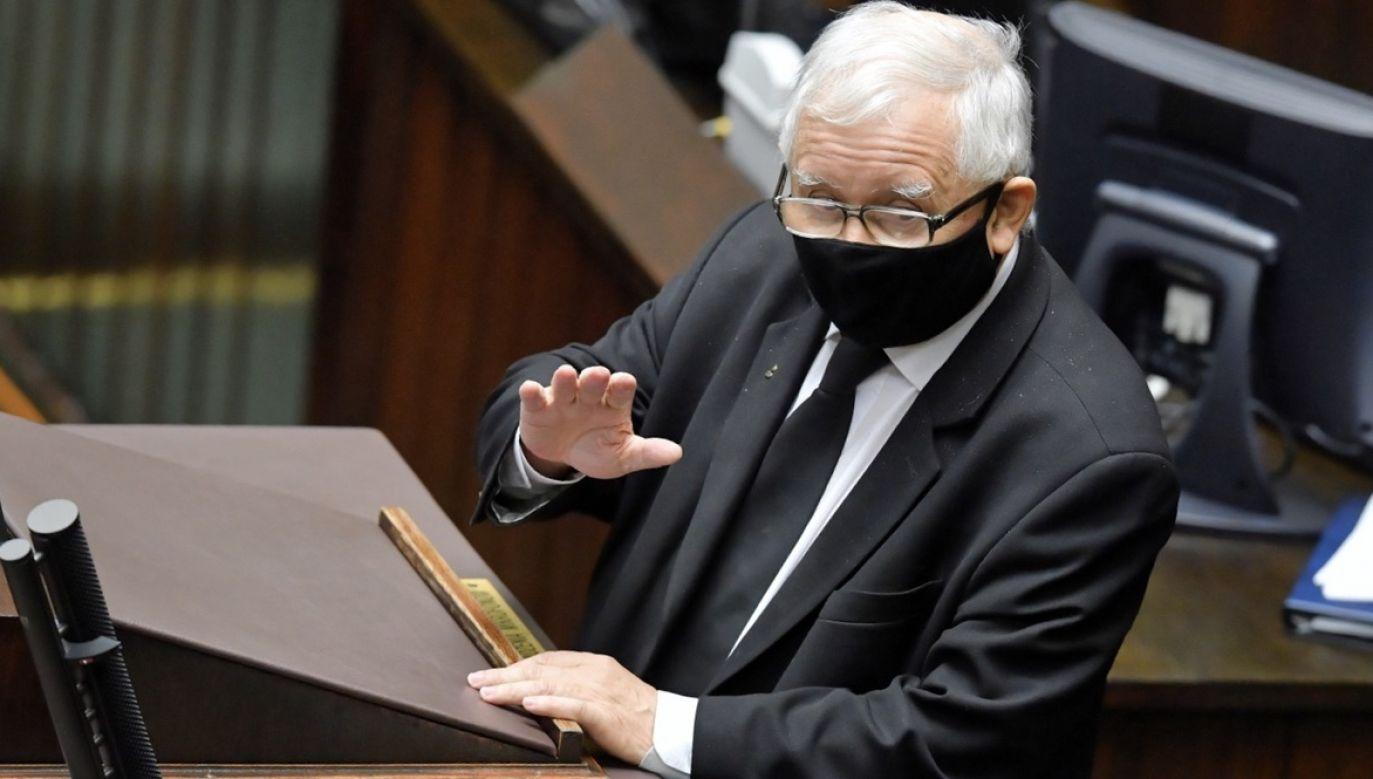 Wicepremier i prezes PiS Jarosław Kaczyński (fot. PAP/Radek Pietruszka)