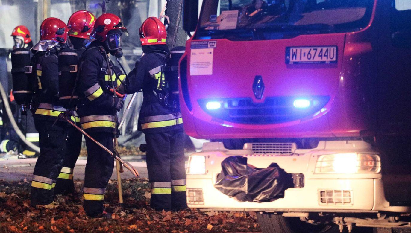 Akcja gaśnicza trwała sześć godzin (fot. arch.PAP/ Paweł Supernak)