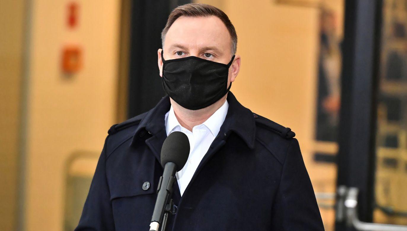 Prezydent Andrzej Duda wykonał test na obecność koronawirusa (fot. PAP/Andrzej Lange)