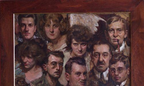 Portret zbiorowy Towarzystwa Dramatycznego w Nowym Saczu, 1914. Fot. Piotr Droździk