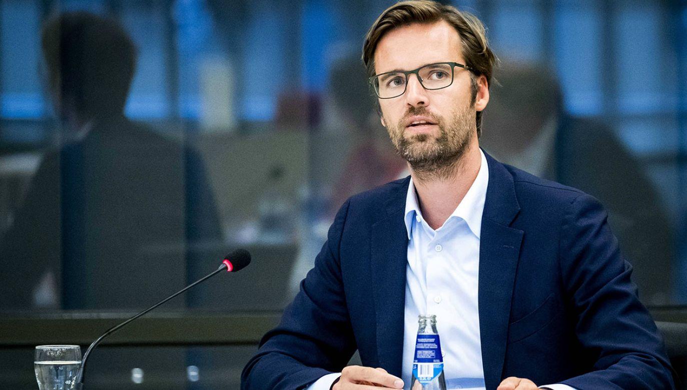 Holenderski polityk Sjoerd Sjoerdsma (fot. arch.PAP/EPA/SEM VAN DER WAL)